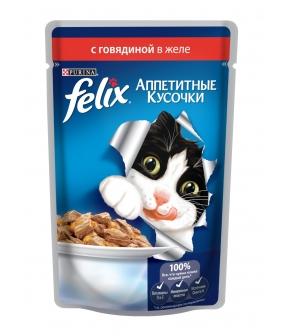 Кусочки в желе для кошек с говядиной 12172497/12318916