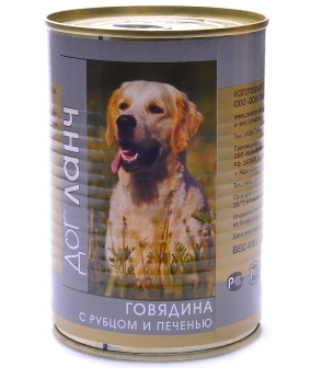 Консервы для собак Говядина с Рубцом и печенью в желе (29601/60863)