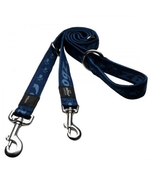 """Поводок – перестежка серия """"Alpinist"""", размер M, ширина 1,6см, длина 1,0 – 1,3 – 1,6м, темно – синий (MULTI PURPOSE LEAD) HLM23B"""