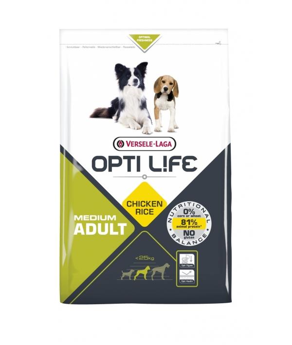Для собак с курицей и рисом (Opti Life Adult Medium) 431143