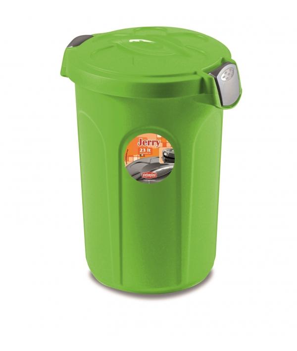 Контейнер Jerry 23 литра для 8кг корма, 37x32x46 см, ярко зеленый (70303)
