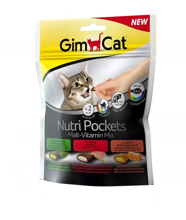 Подушечки для кошек, микс: кошачья мята с витаминами, говядина с мальтпастой, лосось с омега3 и омега6, 400693