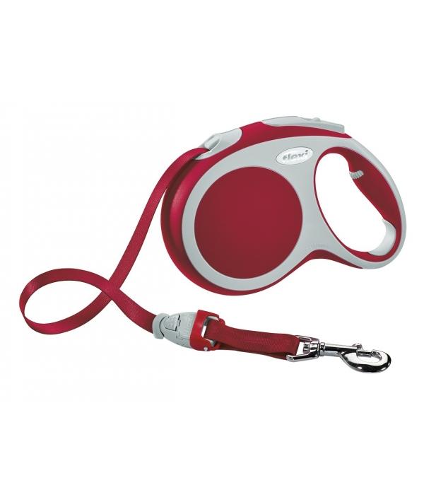 Рулетка – ремень для собак до 15кг, 5м, красная (Vario S tape 5m red)