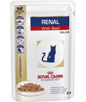 Кусочки в соусе для кошек при лечении почек, c говядиной (Renal S/O) 796001/ 796101