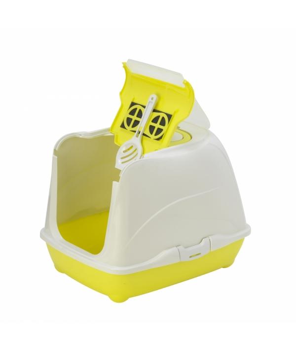 Туалет – домик Flip с угольным фильтром, 50х39х37см, лимонно – желтый (Flip cat 50 cm) MOD – C230 – 329 – B.