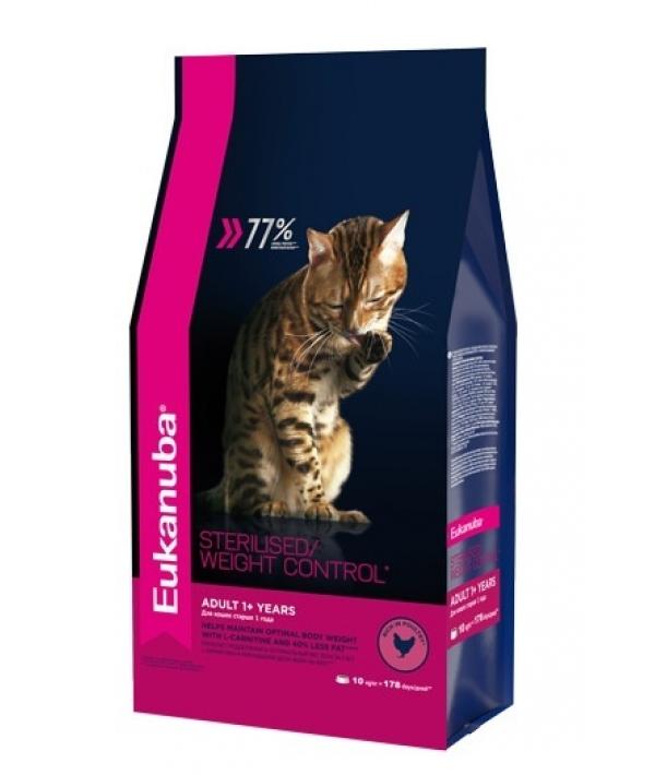 Для кастрированных и склонных к ожирению кошек с курицей (Adult Sterilized/Weight Control) 10144220