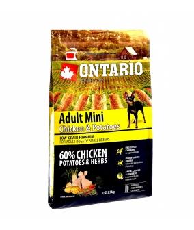 Для собак малых пород с курицей и картофелем (Ontario Adult Mini Chicken & Potatoes 0,75kg) 214 – 10533