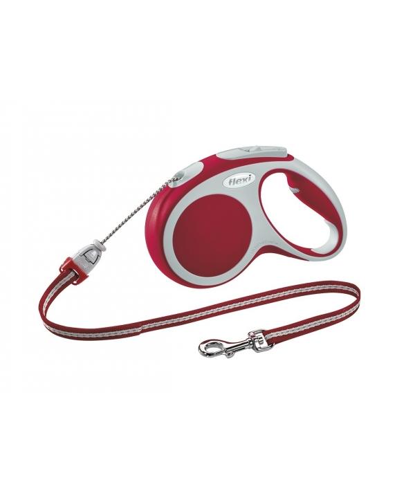 Рулетка – трос для собак до 12кг, 5м, красная (Vario S cord 5m red)