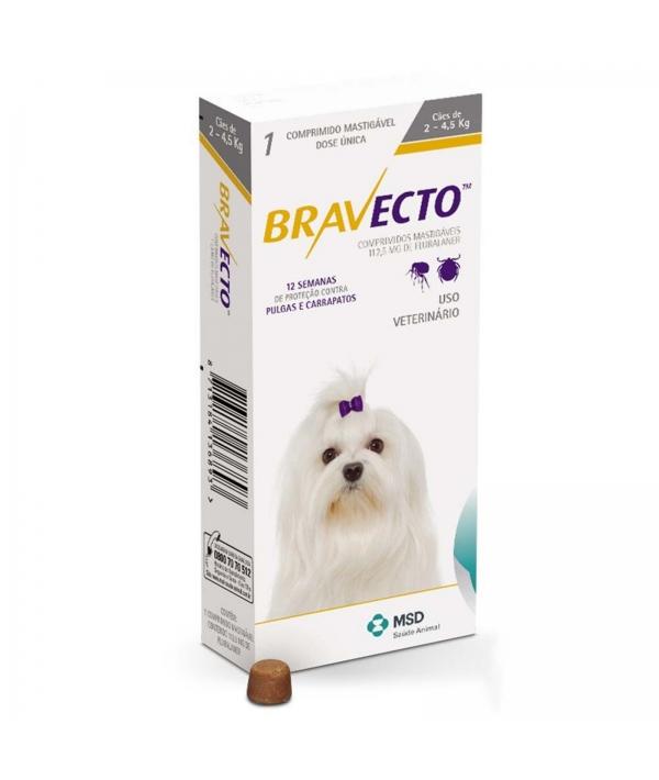 Бравекто жевательная таблетка от блох и клещей для собак 2 – 4.5кг 5мг (40278)