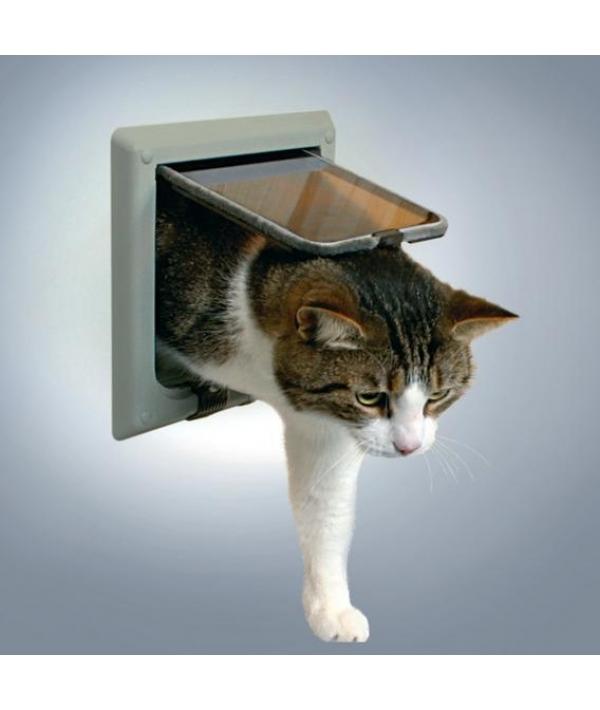 Дверца для кошки (15,8х14,7см), с 4 функциями, серый.38642