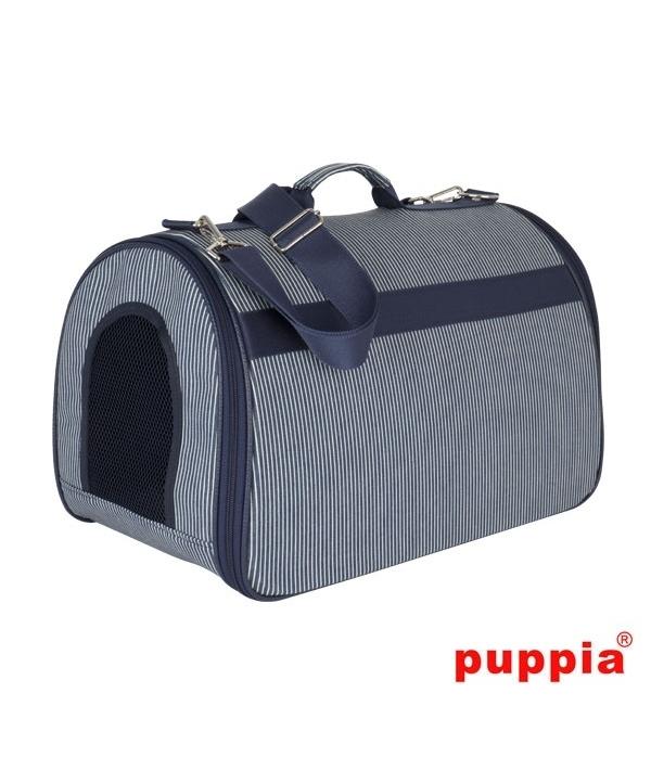 Сумка – переноска для собак до 3,5 кг в полоску, темно – синий (45см х 27см х 31см) (STRIPE CASUAL CARRIER/NAVY/ONE SIZE) PAPC – AB1370 – NY – FR