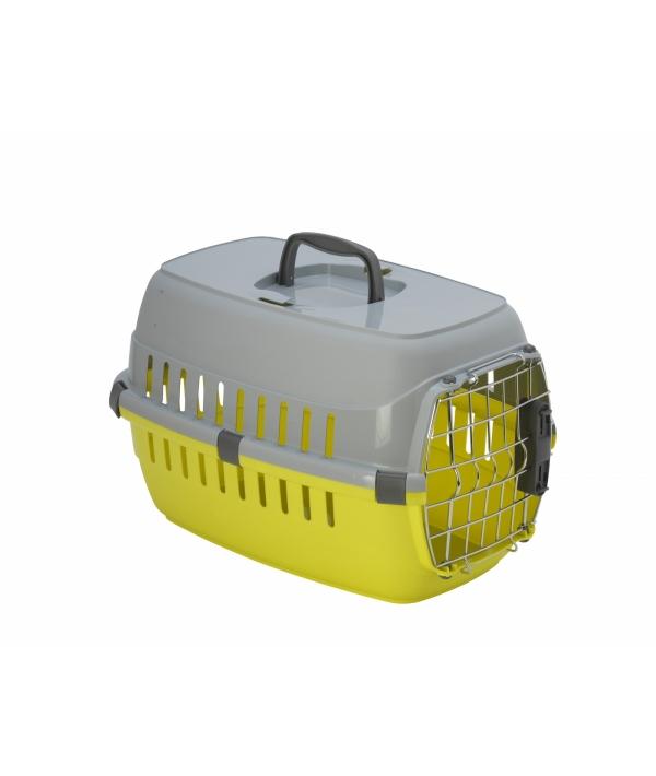 Переноска Roadrunner с металлической дверью+замок, 48,5 x 32,3 x 30,1см, лимонно – желтый (roadrunner I SPRING lock) MOD – T103 – 329 – B.