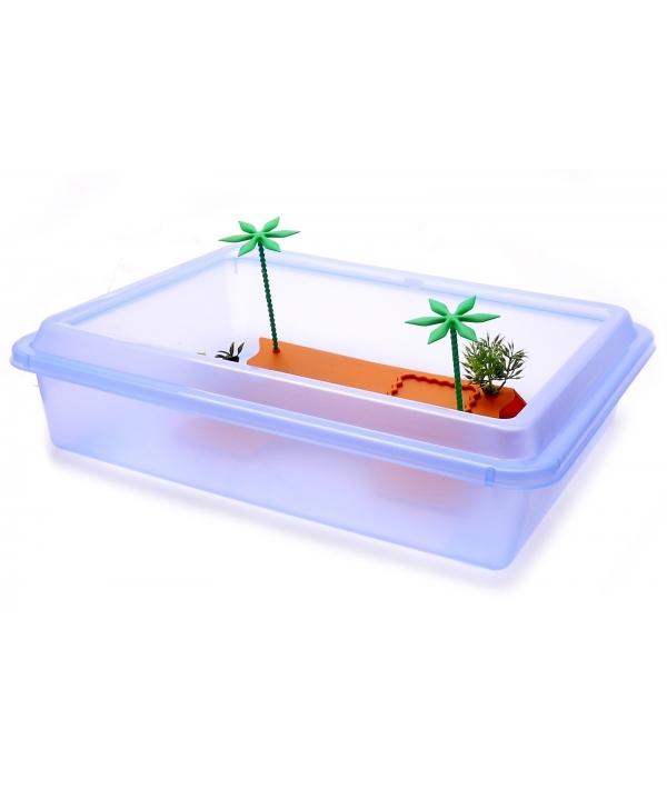 """Ванночка для черепахи прямоугольная M, 43,5 * 34 * 11 см (Turtle box """"tortuga"""" medium) 4410.."""