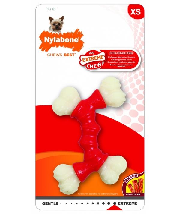 Двойная Косточка, экстра – жесткая, аромат бекона, XS (Extreme Chew Double Bone) 982648EU
