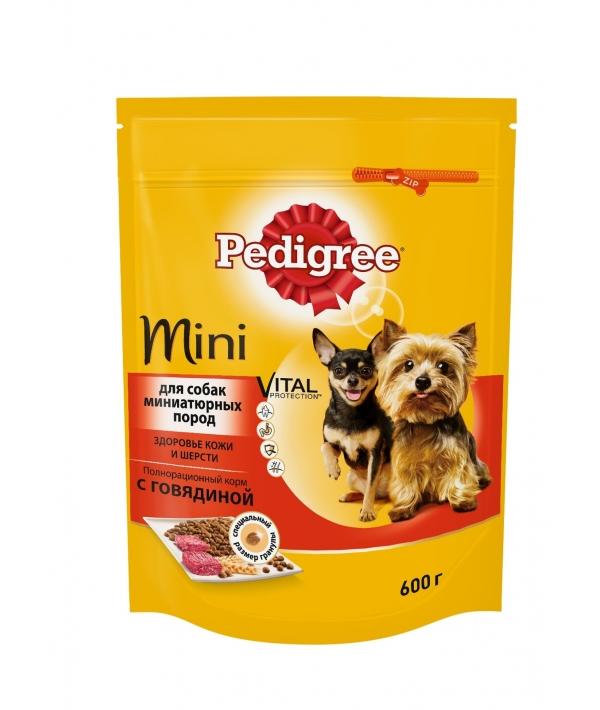 Сухой корм для собак мини пород с говядиной 10135475