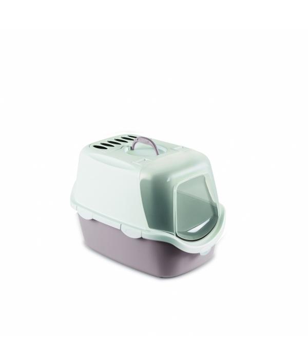 Туалет – Домик Cathy Easy Clean с угольным фильтром, пудровый, 56*40*40см (TOILETTE CATHY EASY CLEAN CIPRIA/BIANCO) 98648