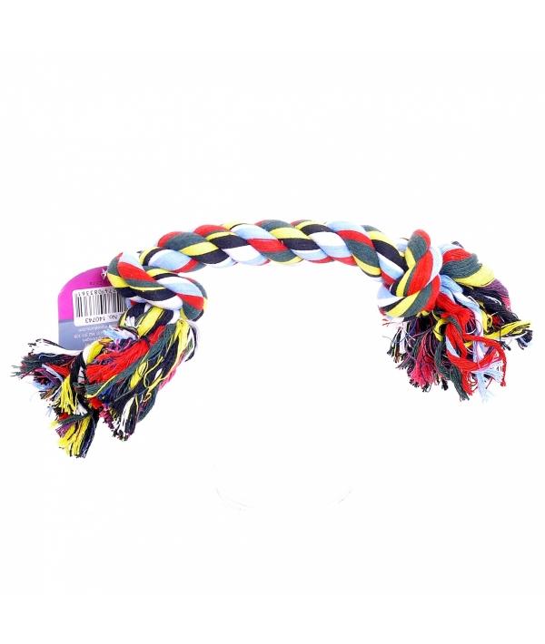 """Игрушка для собак """"Веревка с 2 узлами"""", хлопок, 23см (Flossy toy 2 knots) 140741"""