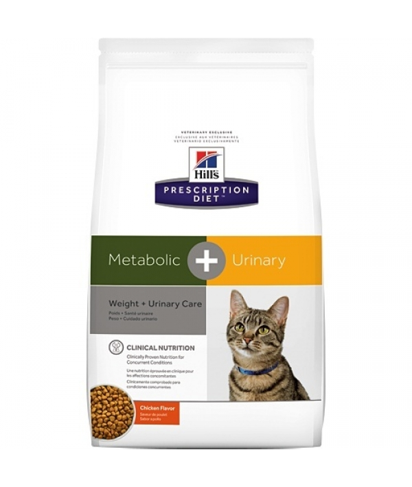 Для взрослых кошек для коррекции веса и лечения мочекаменной болезни Metabolic + Urinary Feline (10040U)