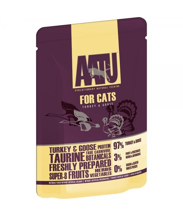 Паучи для кошек Индейка и Гусь (AATU FOR CATS TURKEY & GOOSE) WACTG85