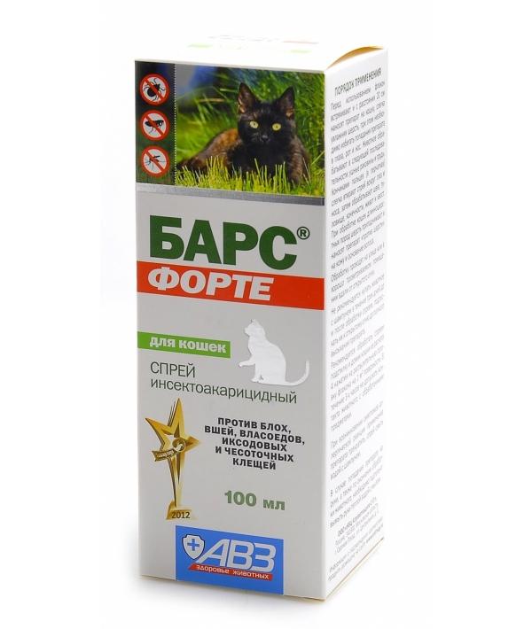 Барс Форте Спрей для кошек от блох и клещей (фипронил) АВ736