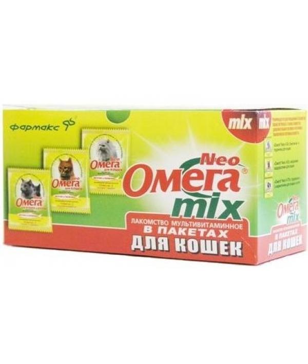 Омега Neo Микс витамины для кошек (15 таб. *21 саше)