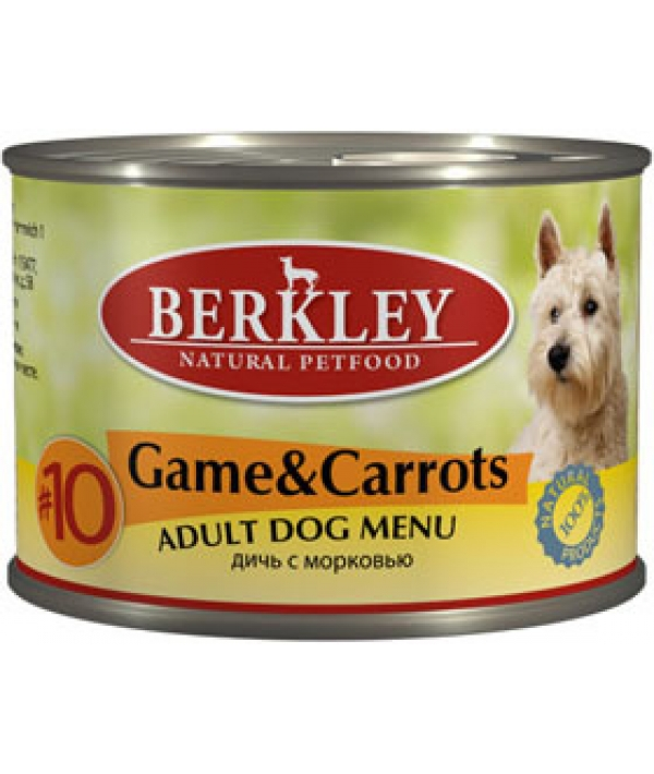 Консервы для собак с дичью и морковью (Adult Game&Carrots)
