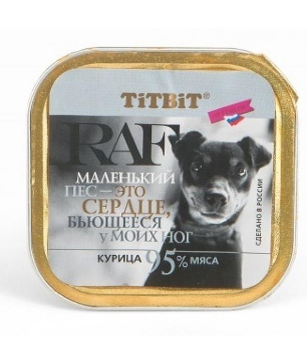 Паштет для собак RAF с курицей (7594)