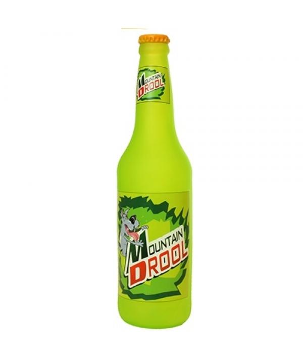 """Виниловая игрушка – пищалка для собак Бутылка пива """"Млеть от счастья в горах"""" (Beer Bottle Mountain Drool) SS – BB – MD"""