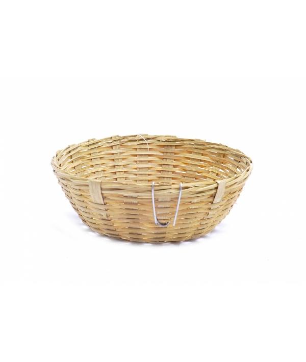Бамбуковое гнездо для канареек с крючками ø11.5 см (Bird nest bamboo canaries/hooks) 14536