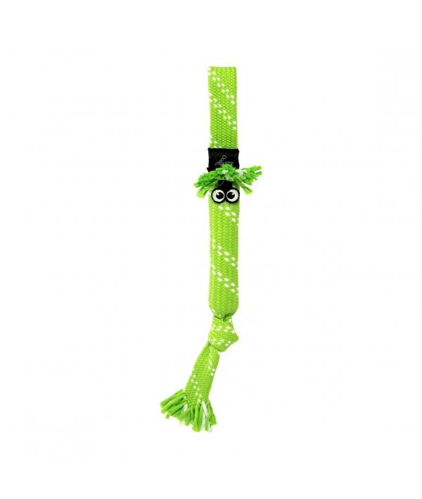 Игрушка веревочная шуршащая SCRUBZ , средняя, лайм (SCRUBZ ROPE TUG TOY SM) SC03L