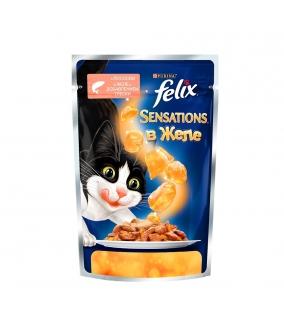 Sensations кусочки в желе для кошек с лососем и треской (12232834/12318961)