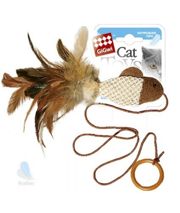 Игрушка для кошек Рыбка дразнилка на палец с кольцом (75026)50106