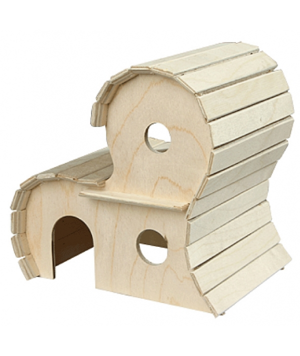Домик для грызунов деревянный 2 – х этажный (8552)