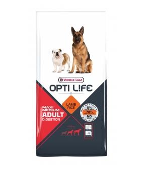 Для собак с чувствительным пищеварением с ягненком и рисом (Opti Life Adult Digestion Medium & Maxi) 431133