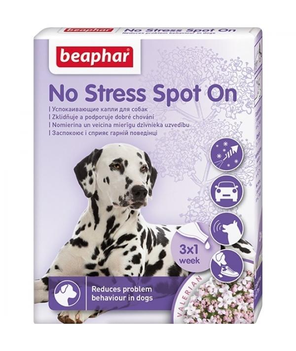 Успокаивающие капли для собак, 3 пипетки (No Stress Spot On)