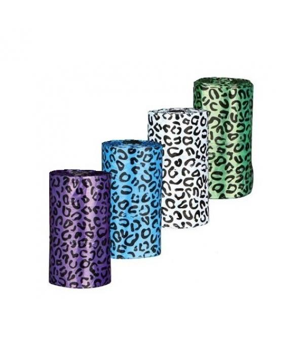 Пакеты для уборки за собаками, 4,5 л, 4 рулона по 20 шт., цветные 22847