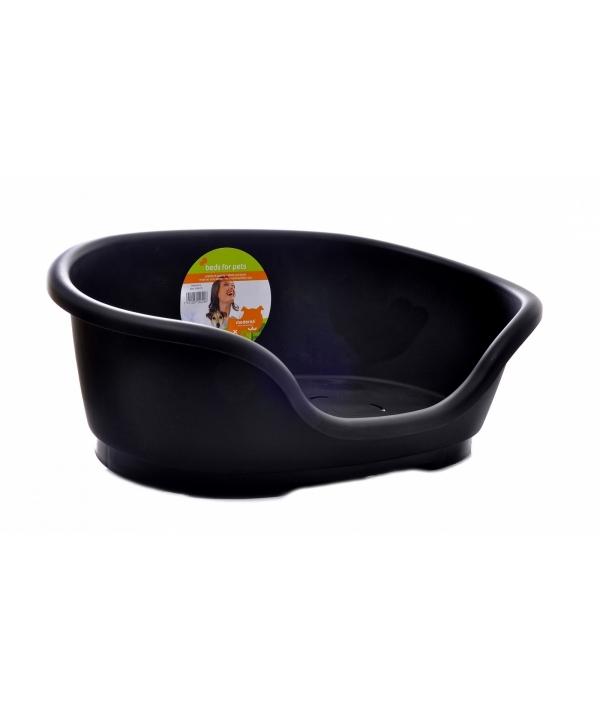 Лежак domus пластиковый 70см, 81х54х24 черный