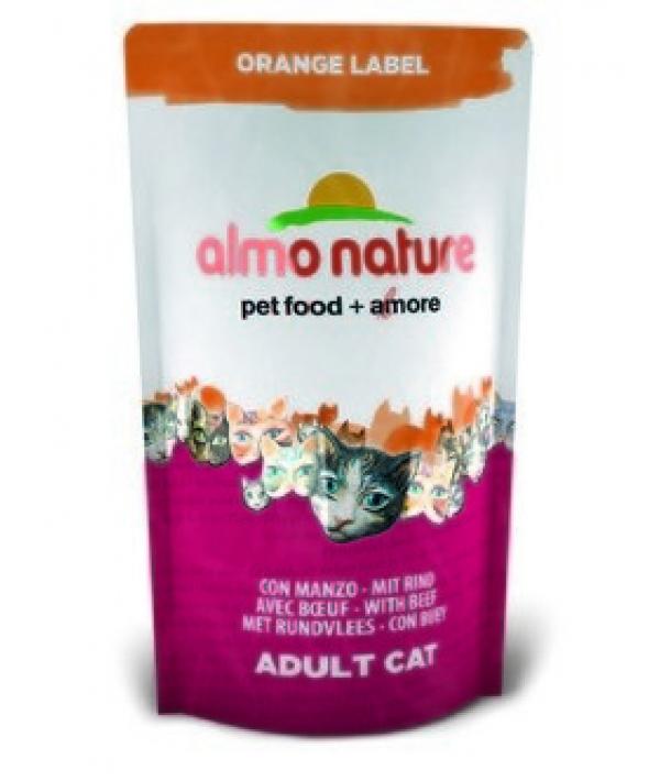 Для Кастрированных кошек с Говядиной (Orange label Cat Beef) 421