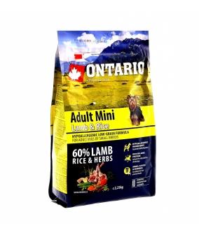 Для собак малых пород с ягненком и рисом (Ontario Adult Mini Lamb & Rice & Rice 0,75kg) 214 – 10593