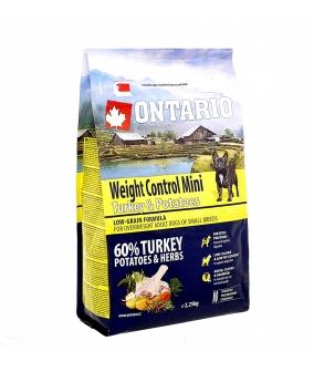 Для собак малых пород Контроль веса с индейкой и картофелем (Ontario Mini Weight Control Turkey & Potatoes 2,25kg) 214 – 12545