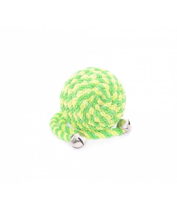 """Игрушка для кошек """"Мячик"""" с бубенчиком, зеленый, нейлон, 5см (Ball with bells green) 240043"""