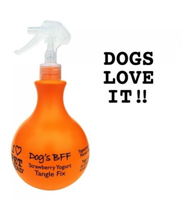 Спрей – уход Клубнично – йогуртовый от колтунов и блеска шерсти собак, без сульфатов и парабенов (DOG'S BFF) PH10303