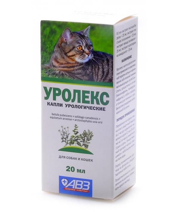 Уролекс для собак и кошек – капли для профилактики и лечения МКБ, острых и хронических заболеваний мочевыводящих путей и почек