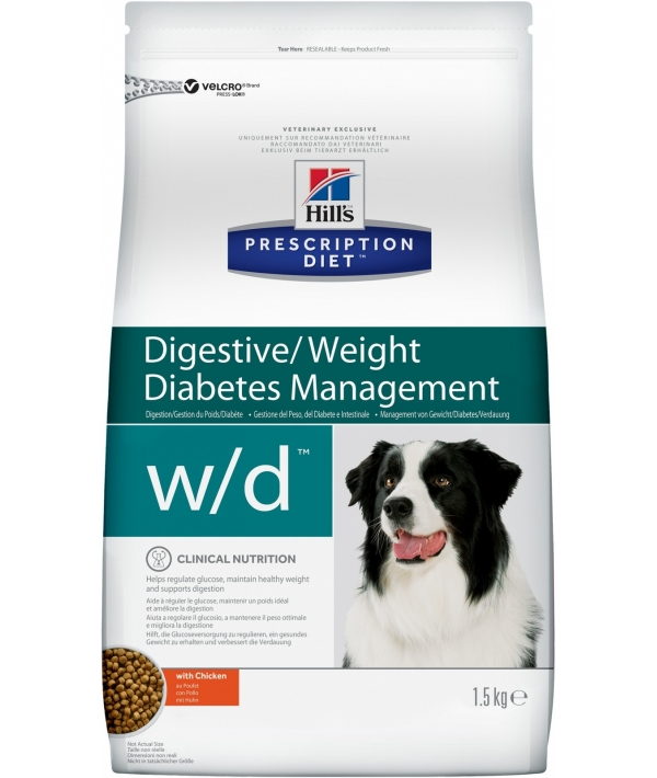 W/D для Собак Лечение сахарного диабета, запоров, колитов (Low Fat/Diabet) 6662N