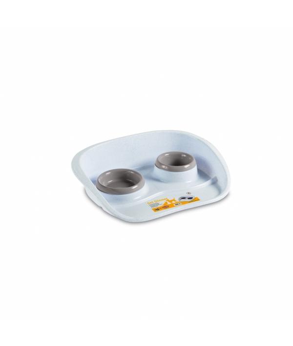 Подставка Set Dinner бело – пудровая с мисками, 0,2 и 0,3л (SET DINNER CIPRIA) 97775