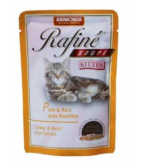 Паучи для котят с индейкой, сердцем и морковью (Rafine Soupe Kitten) 83390/83785/83650/83785