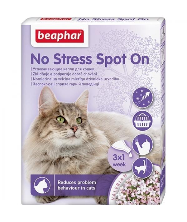 Успокаивающие капли для кошек, 3 пипетки (No Stress Spot On)