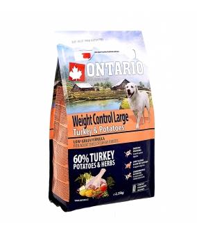 Для собак крупных пород Контроль веса с индейкой и картофелем (Ontario Large Weight Control Turkey & Potatoes 2,25kg) 214 – 12745