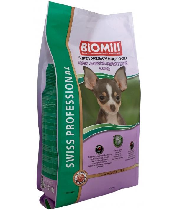 Swiss Для щенков малых и карликовых пород с чувствит пищеварением (Mini Junior Sensitive Lamb)(874001)