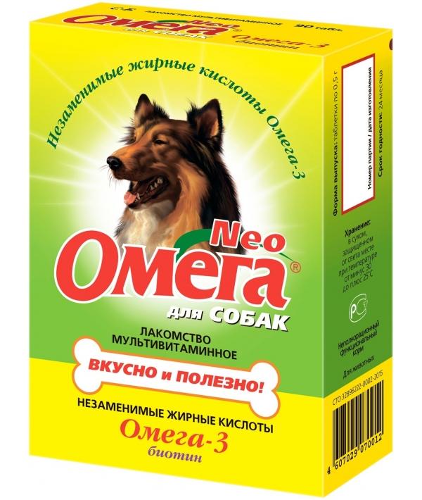 Омега Нео витамины для собак с биотином, 90таб.(13015)